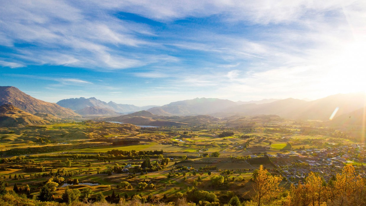 View from Tobins Track, Arrowtown in Autumn