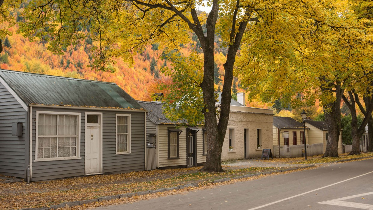 Miners Cottages, Arrowtown in Autumn