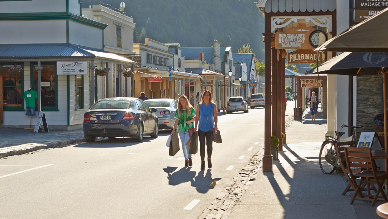 Shopping in Arrowtown's historic main street