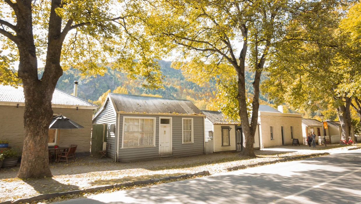 Avenue of historic cottages, Arrowtown