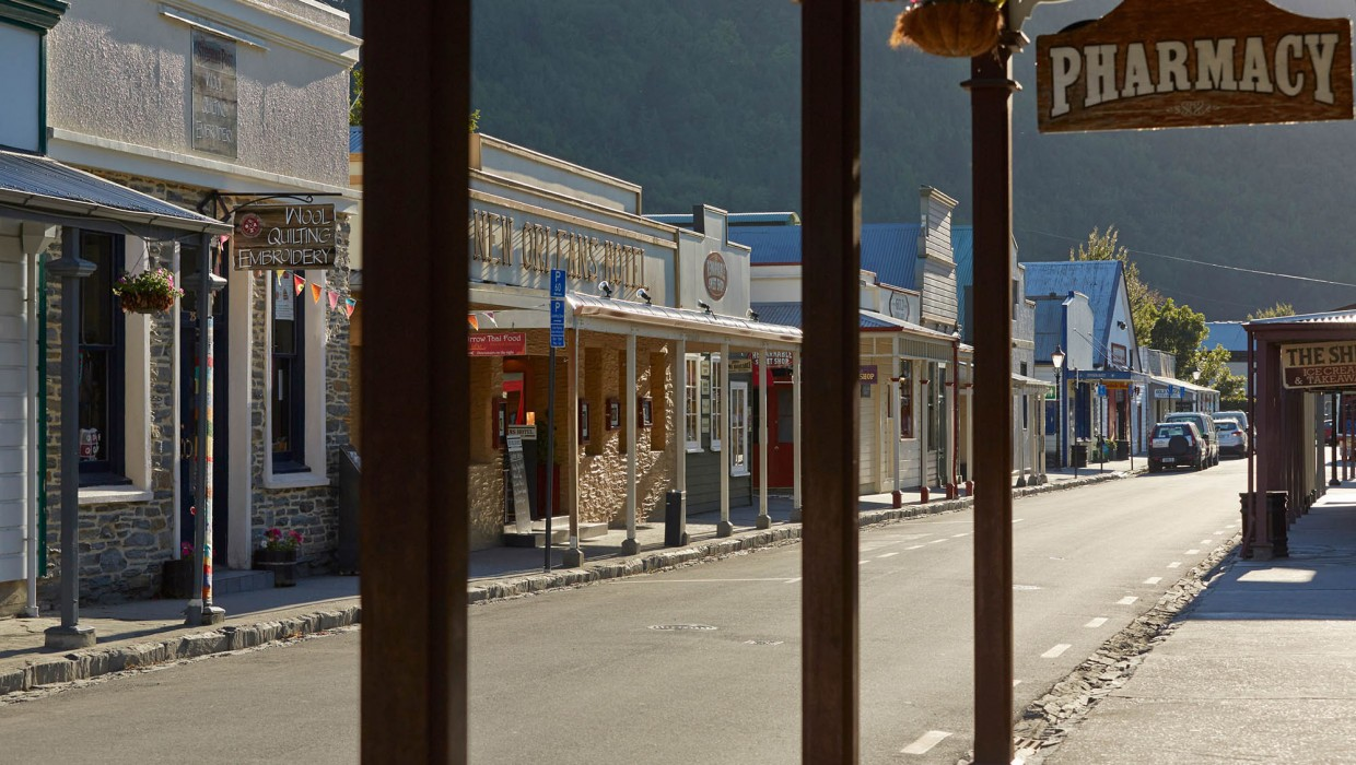 Arrowtown main shopping street