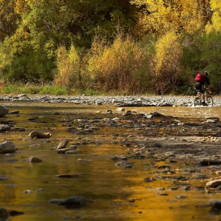 Biking on the Arrow River