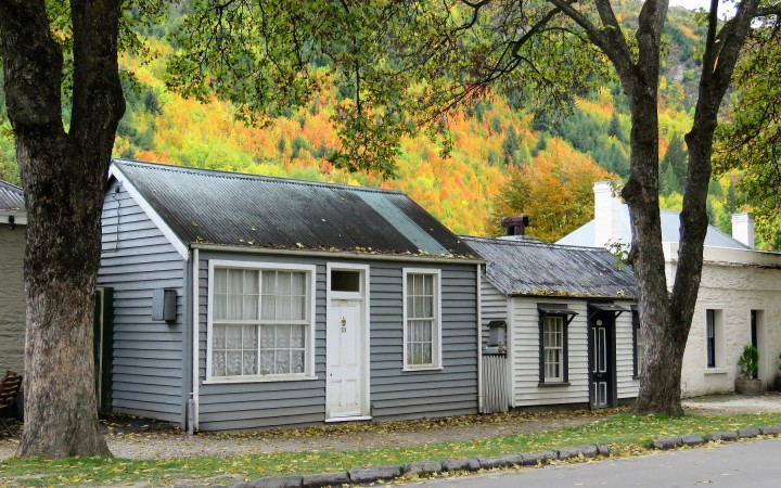 Miners Cottages in Autumn