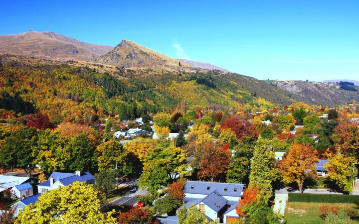 Arrowtown Village in Autumn